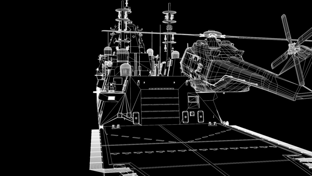 BAE systems 3D rendering