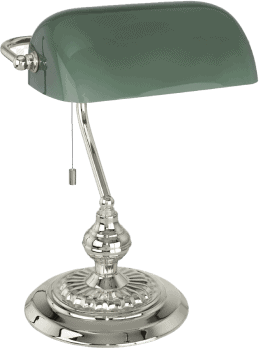 green lampshade